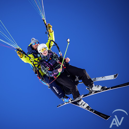 vol parapente biplace en ski aix en vol parapente